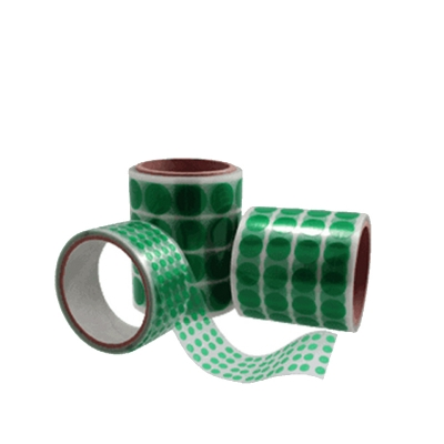 Green Color Double Sided Die Cutting Adhesive Die Cut Green Pet Tape
